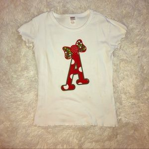 "Other - Initial ""A"" Christmas shirt"
